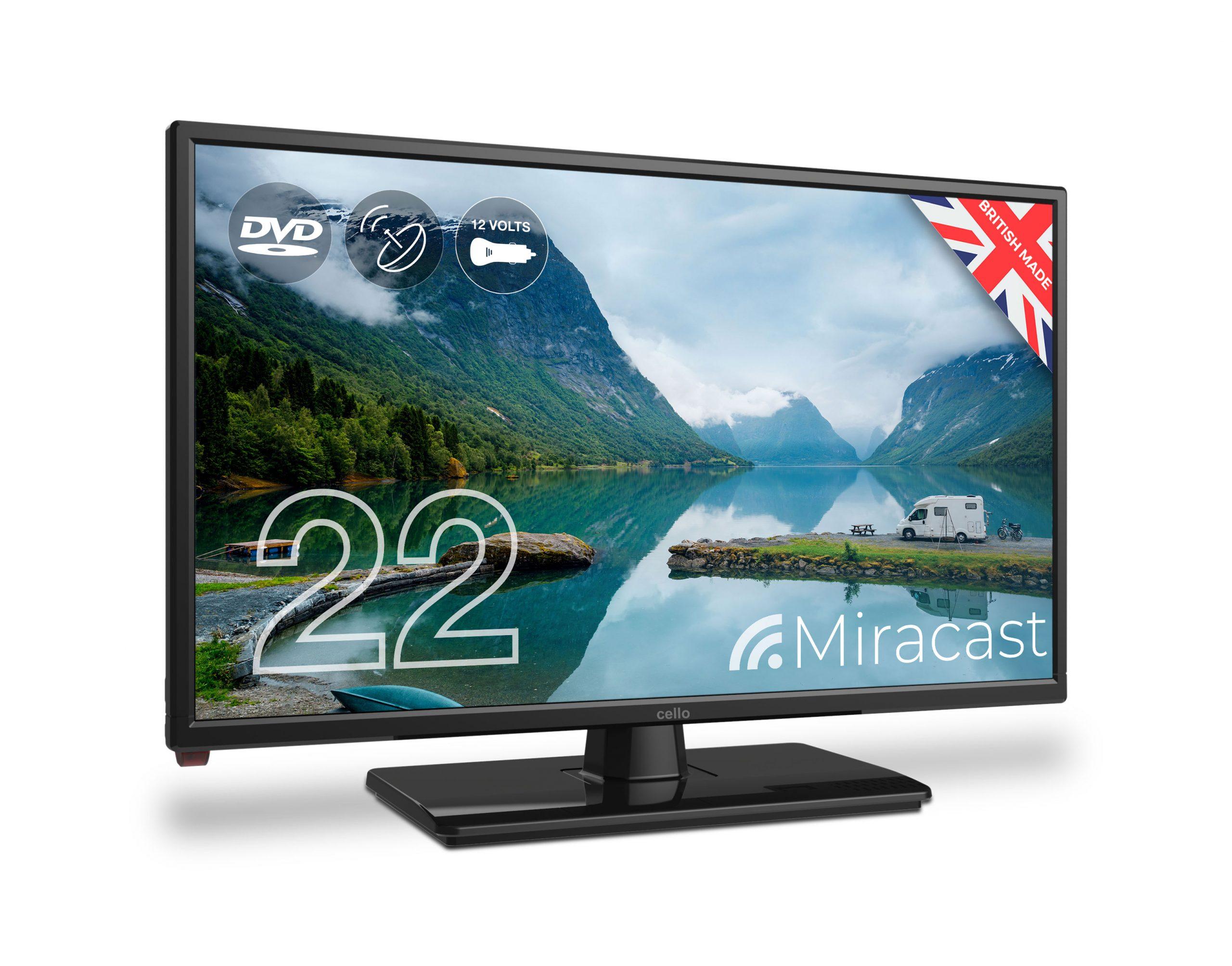 22 Full Hd 12v Traveller Tv With Dvd Player Satellite Tuner Miracast Cello Electronics Uk Ltd