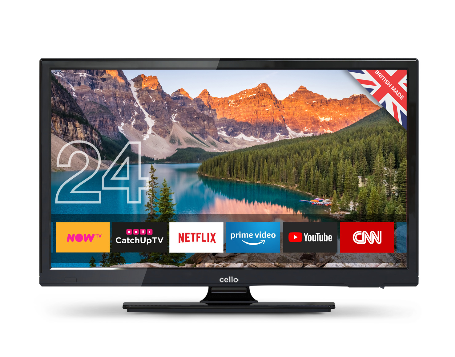 "24"" Superfast Smart LED TV with Wi-Fi and Freeview T2 HD"