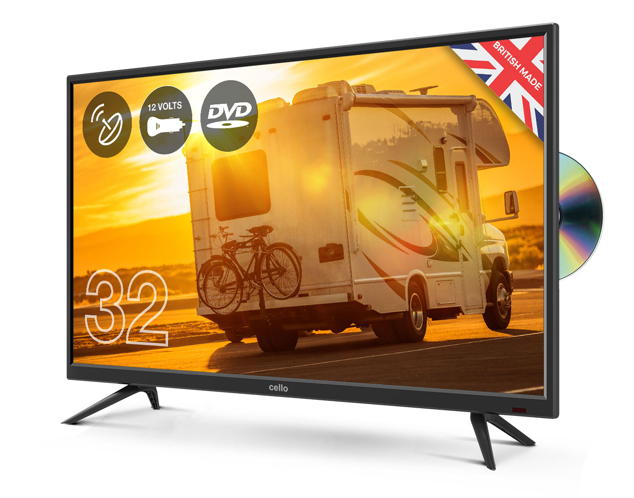 32 Traveller Tv With Built In Dvd Player And Satellite Tuner Cello Electronics Uk Ltd