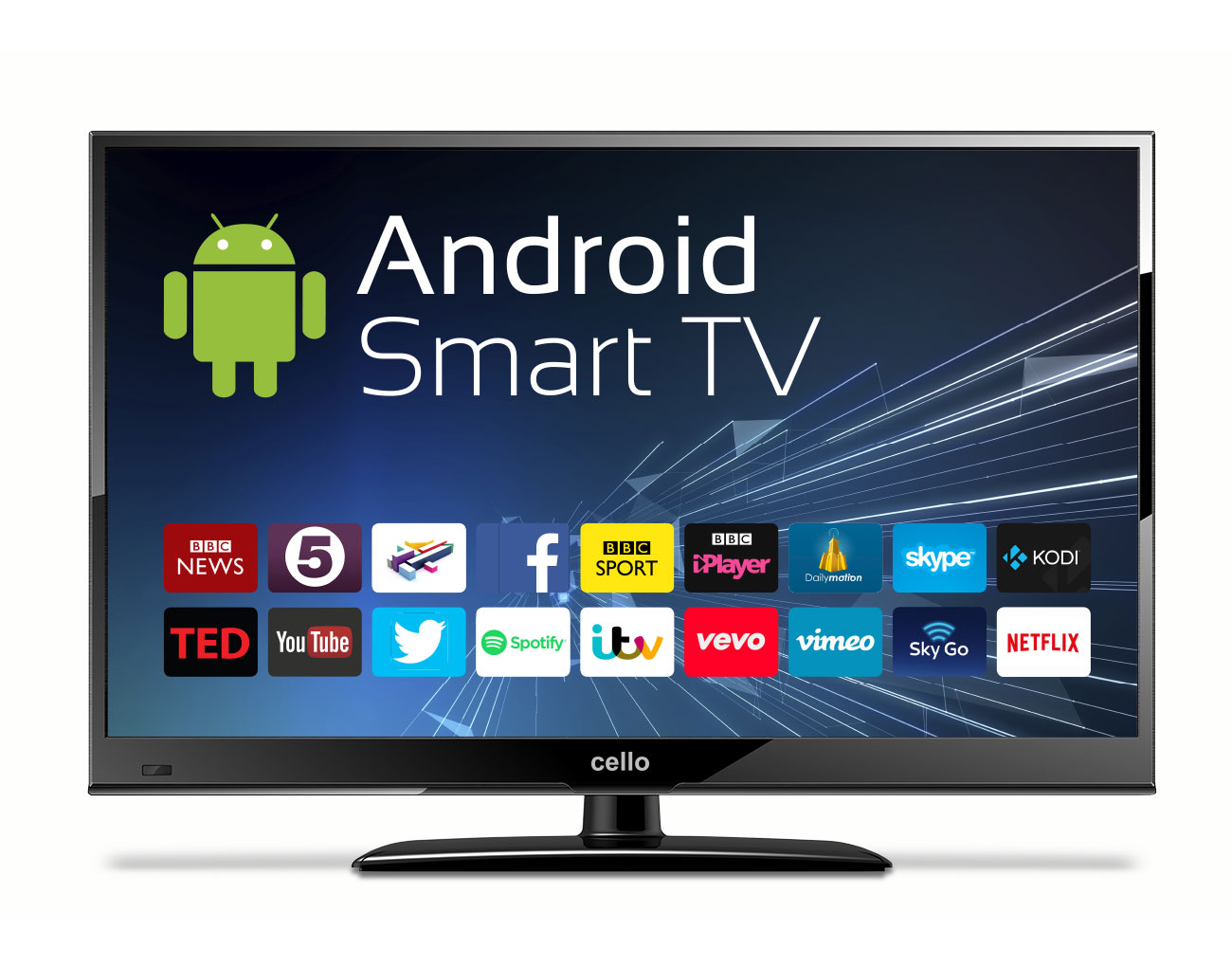 24 android smart led tv with wi fi and freeview t2 hd. Black Bedroom Furniture Sets. Home Design Ideas