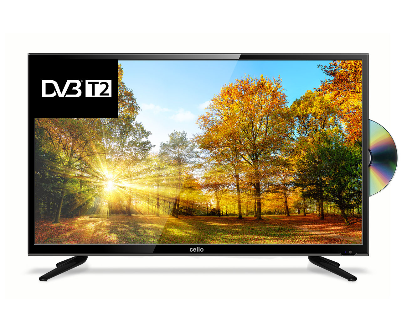 32 Hd Ready Freeview T2 Hd Tv With Built In Dvd Player Cello