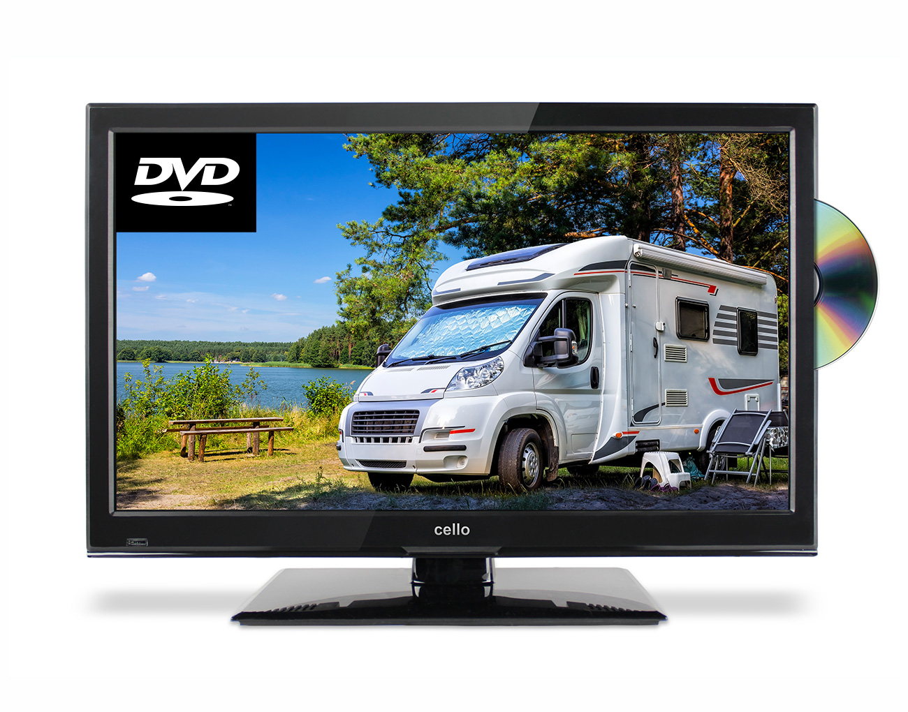 22 Full Hd Traveller Tv With Dvd Satellite Tuner Cello