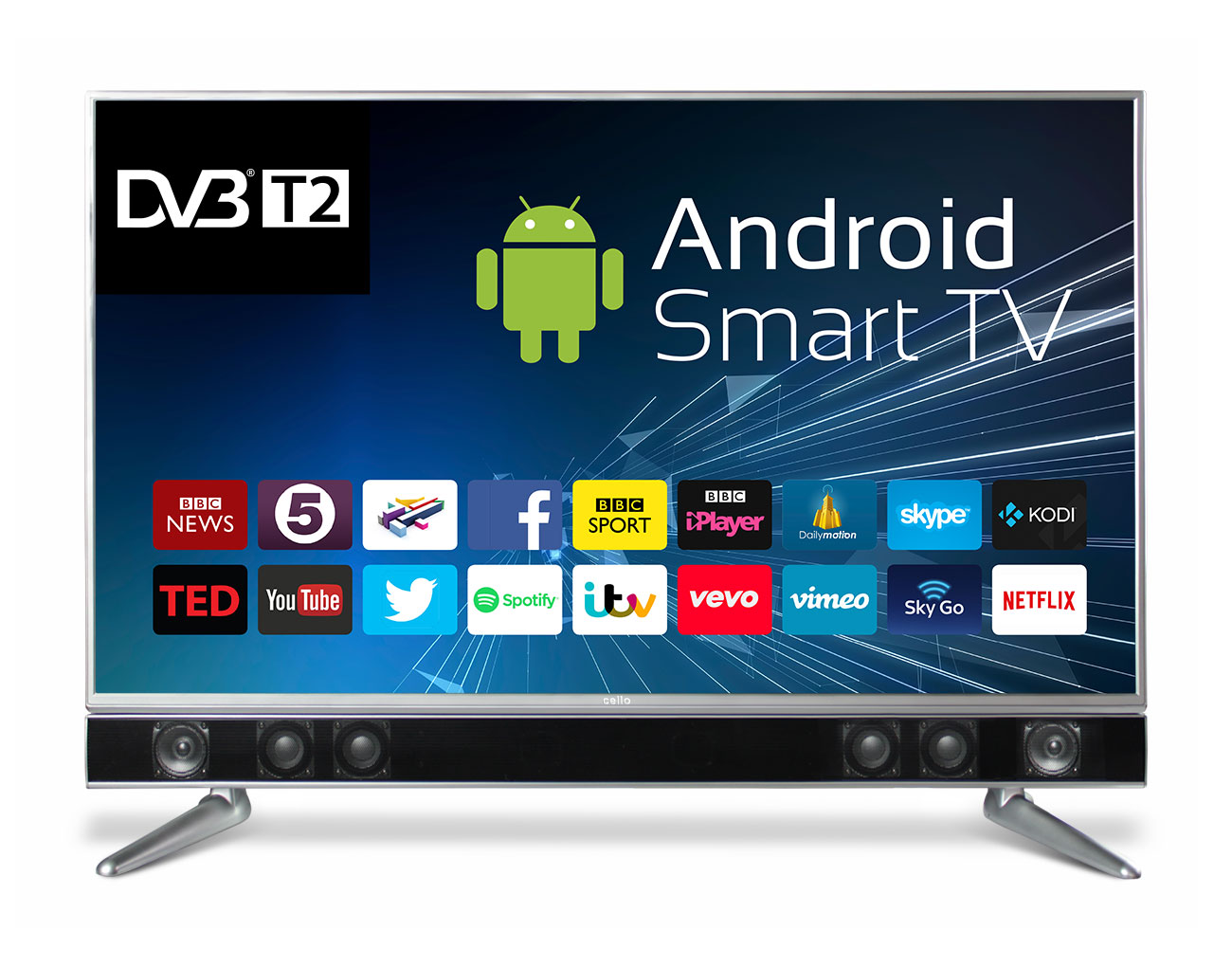 43 zoll led tv 109cm smart tv full hd fernseher dvb t2. Black Bedroom Furniture Sets. Home Design Ideas
