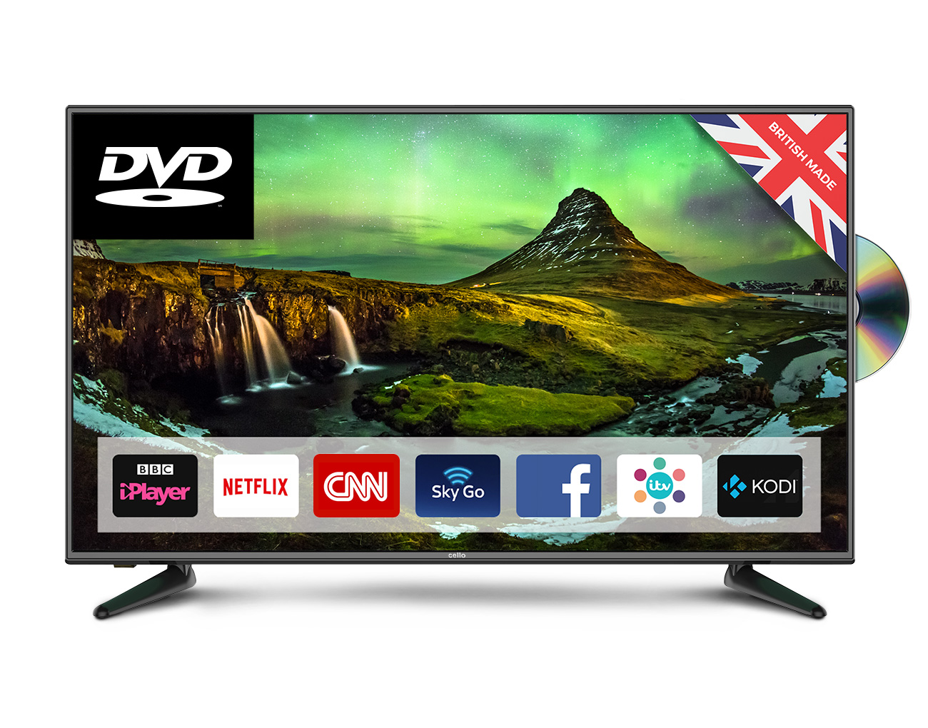 43 Superfast Smart Led Tv With Built In Dvd Player Cello